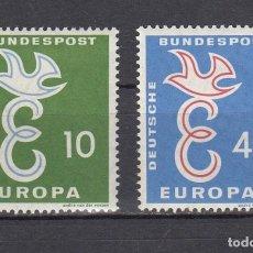 Sellos: ALEMANIA FEDERAL.1958. YVERT 164/165. NUEVOS CON CHARNELAS.. Lote 161014662