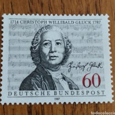 Sellos: ALEMANIA FEDERAL :N°1171 MNH, COMPOSITORES, MÚSICA, WILLIBALD. Lote 162938838
