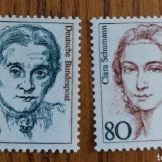 Sellos: ALEMANIA FEDERAL:N°1136/37 MNH, MUJERES ALEMANAS. Lote 162951928