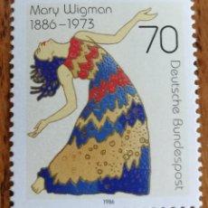 Sellos: ALEMANIA: N°1133 MNH, MARY WIGMAN. AÑO 1986. Lote 163019726