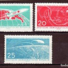 Sellos: 1961 ALEMANIA ORIENTAL DDR MICHEL MI 822/824 YVERT YT 540/542 MNH ** - VUELOS ESPACIALES. Lote 163728606