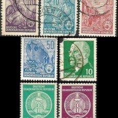 Sellos: ALEMANIA, R. D. 1957 A 1962 - LOTE VARIADO - 7 SELLOS USADOS. Lote 163974166
