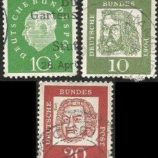 Sellos: ALEMANIA, R. F. 1959 Y 1961 - LOTE 3 SELLOS USADOS. Lote 163977598