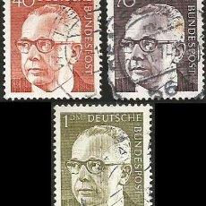 Sellos: ALEMANIA, R. F. 1970 Y 1971 - LOTE 3 SELLOS USADOS. Lote 163978410
