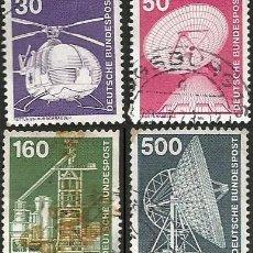 Sellos: ALEMANIA, R. F. 1975 Y 1976 - LOTE 4 SELLOS USADOS. Lote 163979030
