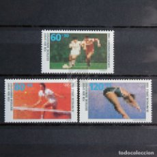 Sellos: ALEMANIA 1988 ~ SERIE NUEVA MNH LUJO ~ DEPORTE. Lote 164795494