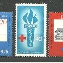 Sellos: YT 902 Y 858-59 DDR (ALEMANIA ORIENTAL) 1966 . Lote 164844942
