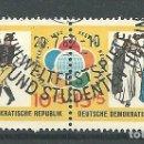 Sellos: YT 616-17 DDR (ALEMANIA ORIENTAL) 1962 COMPLETA. Lote 164845546