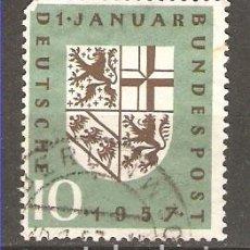 Sellos: YT 125 ALEMANIA 1957. Lote 166292734