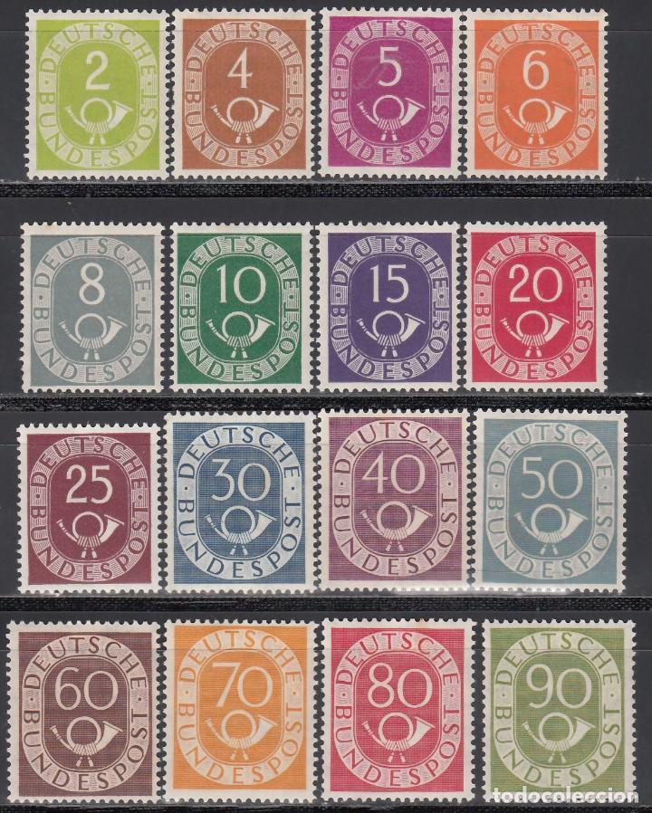 ALEMANIA, 1951-1952 YVERT Nº 9 / 24 /*/ (Sellos - Extranjero - Europa - Alemania)