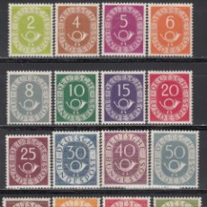 Sellos: ALEMANIA, 1951-1952 YVERT Nº 9 / 24 /*/ . Lote 166943692