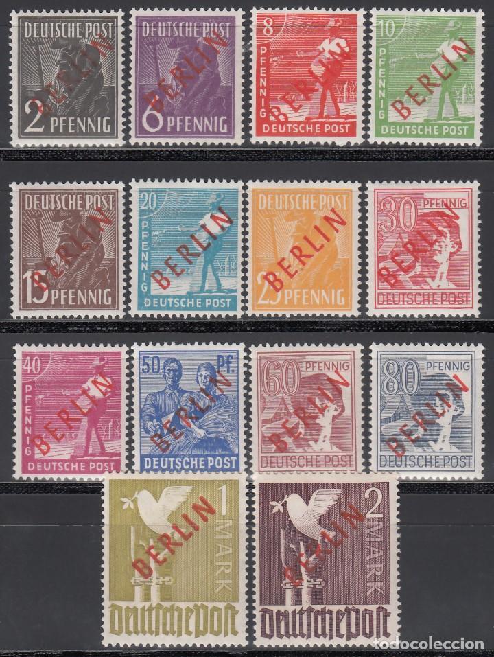 BERLIN, 1948 YVERT Nº 1 / 18 **/ * (Sellos - Extranjero - Europa - Alemania)