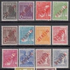 Sellos: BERLIN, 1948 YVERT Nº 1 / 18 **/ *. Lote 168295664