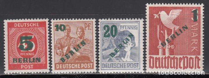 BERLIN, 1949 YVERT Nº 47 / 50 /**/, SIN FIJASELLOS (Sellos - Extranjero - Europa - Alemania)