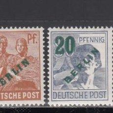 Sellos: BERLIN, 1949 YVERT Nº 47 / 50 /**/, SIN FIJASELLOS. Lote 168297152