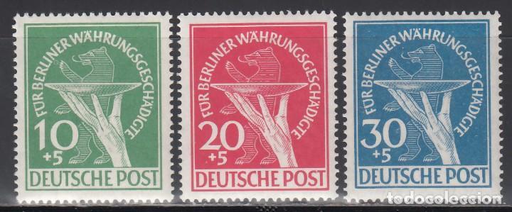 BERLIN, 1949 YVERT Nº 54 / 56 /**/, SIN FIJASELLOS (Sellos - Extranjero - Europa - Alemania)