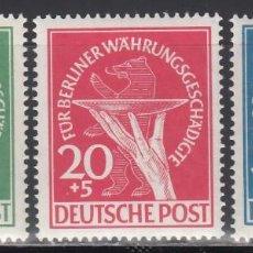 Sellos: BERLIN, 1949 YVERT Nº 54 / 56 /**/, SIN FIJASELLOS. Lote 168297392