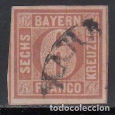 Sellos: BAVIERA, 1849 - 50 YVERT Nº 3. Lote 168387400