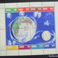 Sellos: ALEMANIA DDR Nº YVERT HB 12*** AÑO N1962. 5º ANIVERSARIO VUELOS ESPACIALES SOVIETICOS. Lote 168519544