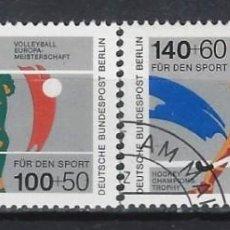 Sellos: ALEMANIA / BERLIN 1989 - DEPORTES, S.COMPLETA - SELLOS USADOS. Lote 168824332
