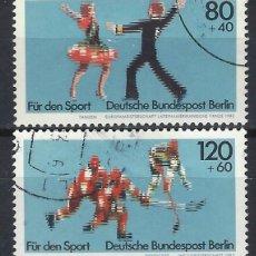 Sellos: ALEMANIA / BERLÍN 1983 - DEPORTES, S.COMPLETA - SELLOS USADOS. Lote 168836504