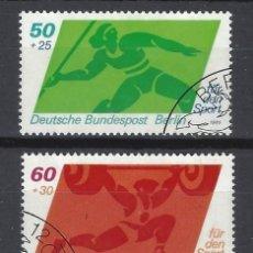 Sellos: ALEMANIA / BERLÍN 1980 - DEPORTES, S.COMPLETA - SELLOS USADOS. Lote 168848196