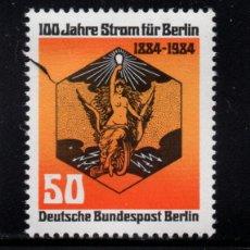 Sellos: BERLÍN 681** - AÑO 1984 - CENTENARIO DE LA ILUMINACION ELÉCTRICA EN BERLÍN. Lote 259039060