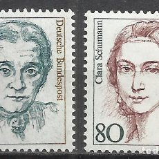 Sellos: 8231D-MUJERES FAMOSAS CELEBRES MNH** SERIE COMPLETA ALEMANIA 1136/7 AÑO 1986 . Lote 169079900