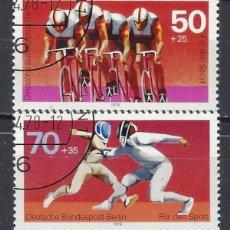 Sellos: ALEMANIA / BERLÍN 1978 - DEPORTES, S.COMPLETA - SELLOS USADOS. Lote 169640540