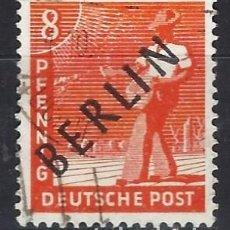 Sellos: ALEMANIA / BERLÍN 1948 - OCUPACIÓN ALIADA SOBRECARGADO EN NEGRO - SELLO USADO. Lote 169785328