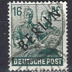 Sellos: ALEMANIA / BERLÍN 1948 - OCUPACIÓN ALIADA SOBRECARGADO EN NEGRO - SELLO USADO. Lote 169785476