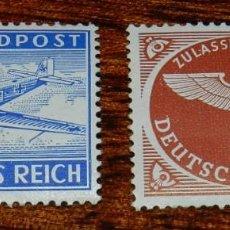 Sellos: 2 SELLOS DEUTSCHES REICH FELDPOST LUFTFELDPOST CORREO AREO 1942 SEGUNDA GUERRA MUNDIAL.. Lote 170186144