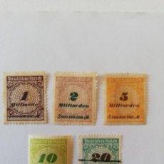 Sellos: IMPERIO.-AÑO 1923 YT 320-321-322-323 Y 324. Lote 170389596