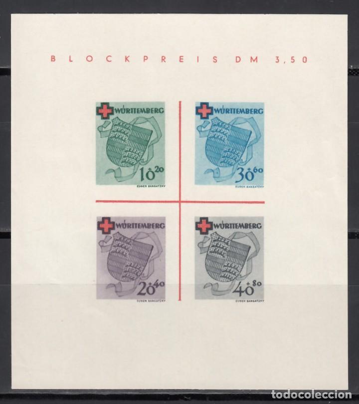 ZONA FRANCESA, WURTEMBERG , 1949 YVERT Nº HB 1 (*) (Sellos - Extranjero - Europa - Alemania)
