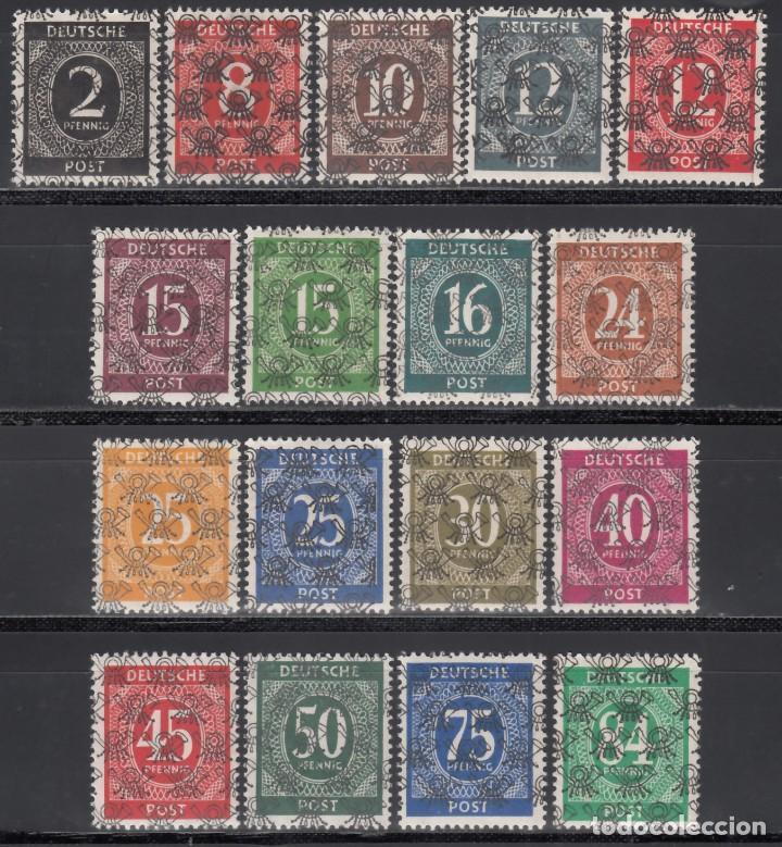 ALEMANIA, BIZONA, 1948 YVERT Nº 20 A / 20 S, **/*, SOBRECARGA TIPO I (Sellos - Extranjero - Europa - Alemania)