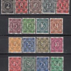 Sellos: ALEMANIA, BIZONA, 1948 YVERT Nº 20 A / 20 S, **/*, SOBRECARGA TIPO I. Lote 170984068