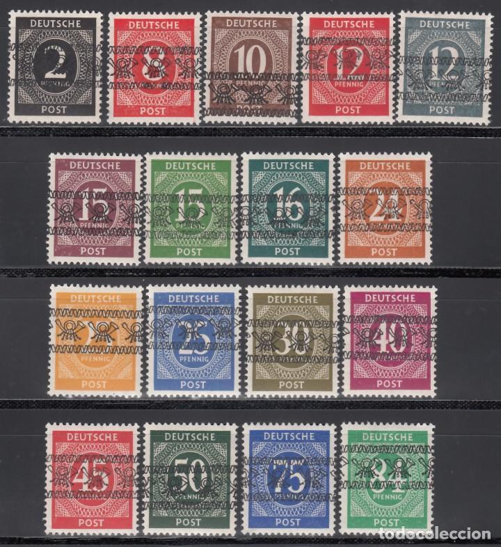 ALEMANIA, BIZONA, 1948 YVERT Nº 20 A / 20 S, /**/ SOBRECARGA TIPO II (Sellos - Extranjero - Europa - Alemania)