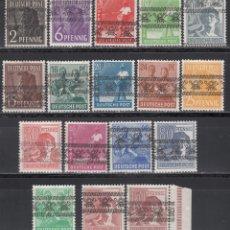 Sellos: ALEMANIA, BIZONA, 1948 YVERT Nº 21 / 36 ( MICHEL Nº 49A, 49B ) /**/ SOBRECARGA TIPO II. Lote 170984950