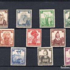 Sellos: ALEMANIA, 1935, TRAJES REGIONALES, NUEVA, SIN GOMA, VALOR DE CATALOGO 200 EUROS. Lote 171052015