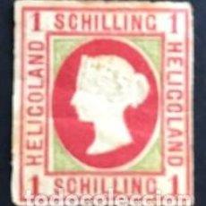 Sellos: SELLOS HELIGOLAND (ALEMANIA) AÑO 1867 1 SCHILLING Nº-2 CATG. Lote 171766390