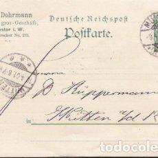 Sellos: ALEMANIA.TARJETA ESCRITA Y CIRCULADA EN 1901. Lote 173594778