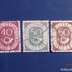 Sellos: ALEMANIA 1951 - DEUTSCHER BUNDESPOST - TROMPETA Y CIFRA.. Lote 174057893
