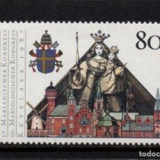 Sellos: ALEMANIA 1152** - AÑO 1987 - VIRGEN DE KEVELAER - VISITA DEL PAPA JUAN PABLO II. Lote 242917000