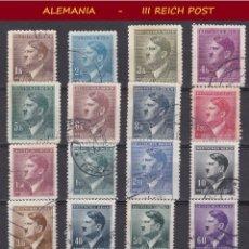 Sellos: LOTE DE SELLOS DEL III REICH ALEMAN, PARTIDO NACIONAL SOCIALISTA / NAZI / HITLER. Lote 176804657