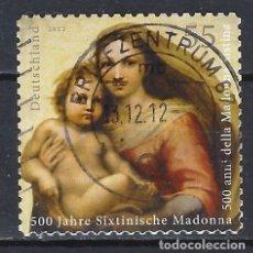 Sellos: ALEMANIA 2012 --V CENT. DE LA MADONNA SIXTINA EN DRESDE - SELLO USADO. Lote 176856644