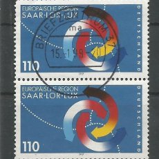 Sellos: ALEMANIA - PAREJA REGIÓN EUROPEA 1997 - SAAR - LOR - LUX - LEA EL TEXTO POR FAVOR, GRACIAS. Lote 176862024