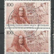 Sellos: ALEMANIA - PAREJA GOTTFRIED WILHELM LEIBNIZ 1996 - LEA EL TEXTO POR FAVOR, GRACIAS. Lote 176863053