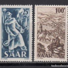 Sellos: SARRE. 1949-1950 YVERT Nº 261, 262 /**/, SIN FIJASELLOS.. Lote 177432498