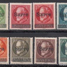 Sellos: SARRE. 1920 YVERT Nº 18, 19A, 20, 21, 23, 24, 25, 26, /*/ . Lote 177433359