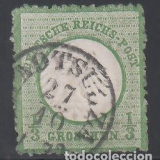 Sellos: ALEMANIA IMPERIO, 1872 YVERT Nº 2B, VERDE OSCURO . Lote 177528133